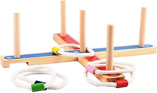 Kids Outdoor Group Team Sports Toy Ring Toss Hoopla Game Set Toy Parents Child …