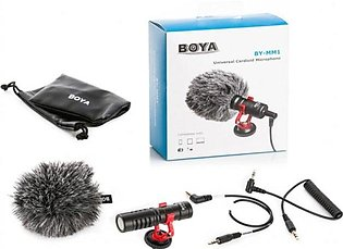 BOYA BY-MM1 MM1 Compact On-Camera Video Microphone Youtube Vlogging Recording M…