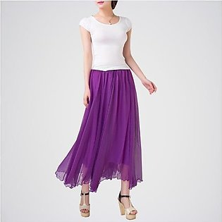 Pack Of 2 (Purple Skirt + White T-Shirt). E4H-110126