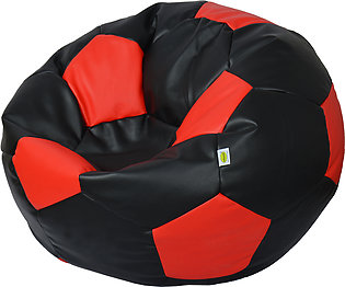 Relaxsit Queen Size Football Leather Bean Bag - Multicolour Luxury Room Furnitu…