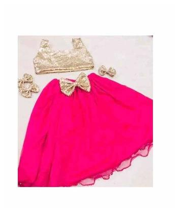 Silk and Net Girls Baby Children frocks For Party Kids Dresses 8
