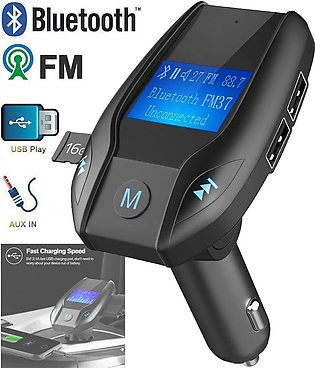 Wireless Hands-free Bluetooth Car Kit MP3 Player FM   USB Car Charger