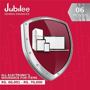 6 Months All Electronic's Insurance - Rs. 60,001 - Rs. 70,000