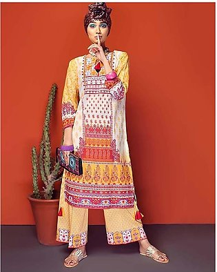 GA - Gul Ahmed - Yellow Normal Printed 2 Pcs (K/S) Unstitched Suit For Women ...