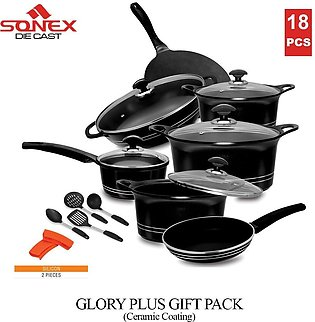 SONEX Glory Plus Gift Pack - 18 Pieces - Die Cast Ceramic Coating with Glass ...
