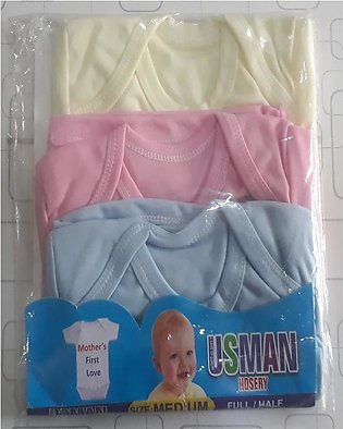 Pack of 3 multi colors shirt for new born baby