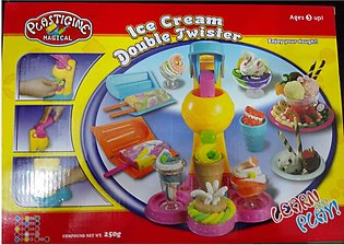 Dough Ice-cream Modelling Machine with Colourful Doughs Package