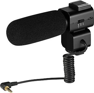 Cm-520 External Condenser Microphone W/Hot Shoe Mount Mobilephone Adapter for...