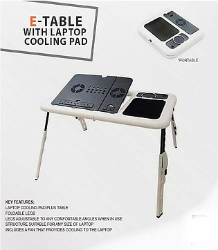 Portable Laptop E-Table With Cooling Pad