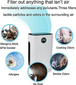 Air Purifier Air Cleaner/Freshener 6 Stage HEPA Filter 550m3/h CADR Remove Od...