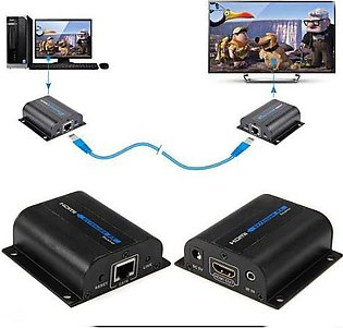 50 to 60 Meter 1080P HDMI Extender Transmitter CAT6 Signal Network Cable IR Con…