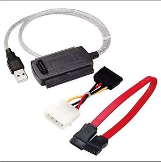DIGIFLEX - SATA IDE to USB Adapter Cable for Hard Disk HDD - 2.5/3.5