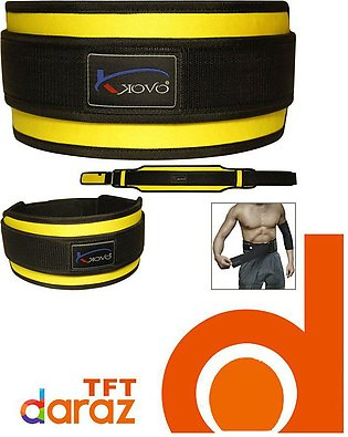 Weight Lifting Belt Double Brace Gym Fitness Belts Lumber Pain Back Support