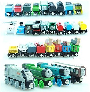 Random 10Pcs New Thomas and His Friends Anime Wooden Railway Trains Toy Model...