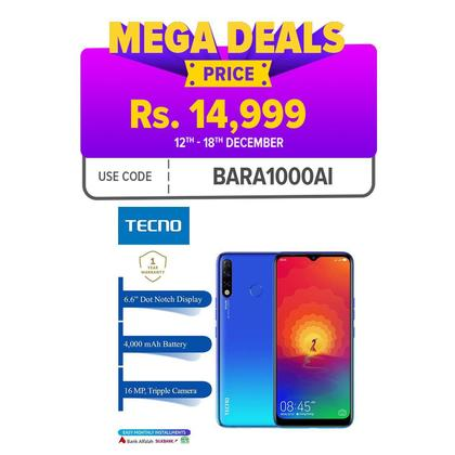 Tecno SPARK 4 - 3GB+32GB - 6.6 Dot Notch Screen
