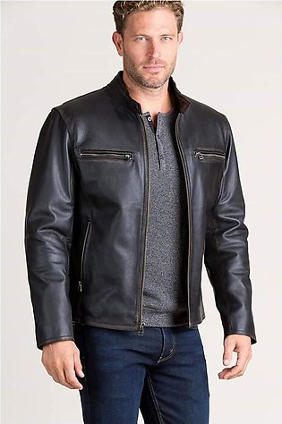 Pure leather Jacket for Men Sheep Skin Original - Black