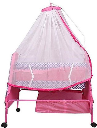 Genuine Branded Baby Swing Cot & Cradle With Mosquito Net - Pink