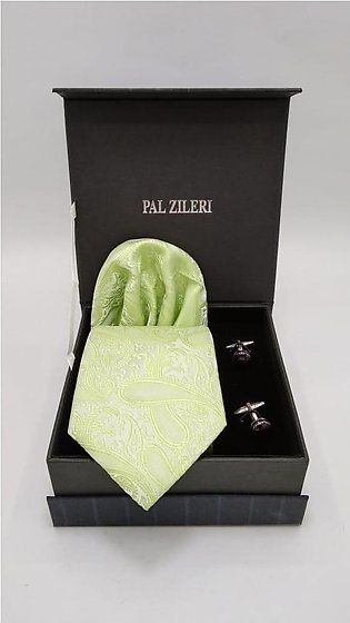 3 Piece Tie Gift Box with Tie, Pocket square and Cufflink inside