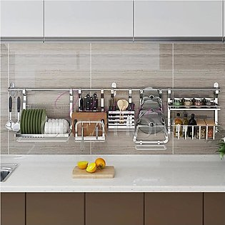 Stainless Steel Kitchen Storage Rack DIY Dish Rack Cutting Boards Stand 304 S...