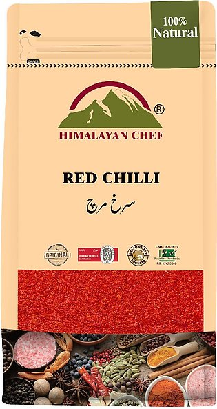 Himalayan Chef Red Chilli Powder (Stand-up Bag With Window) - 500 g