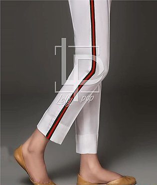 SlimFit Printed Lining Style Cigarette Pant For Girls