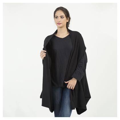 Ladies Free Size Long Sweater (K1) - Black Color by Chase Value Centre