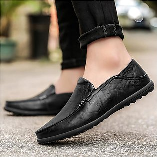 Men Large Size England Peas Driving Breathable Shoes
