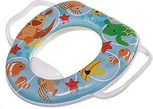Baby potty training seat, cartoon design, cushioned toilet seat for babies
