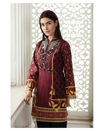 So Kamal Women EID Collection Blue 1 PCS Pret - Embroidered Lawn Int:XS DPL 19-257