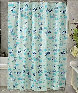 Shower Curtain Water Resistant Odorless Water-Repellent Curtain Splicing Styl...