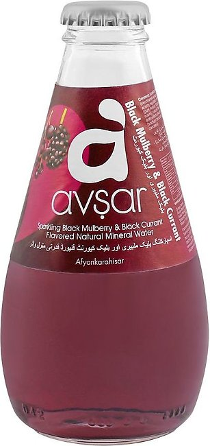 Avsar Sparkling Black Mulberry & Black Currant Natural Mineral Water, 200ml