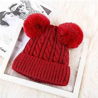 Hats For Women Ladies hat Winter Lady Adult Plush Double-Haired Ball Hooded Hat…