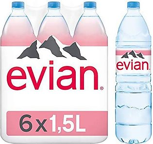 Pack Of 6 : Evian Naturally Pure Drinking Water - 1.5 L