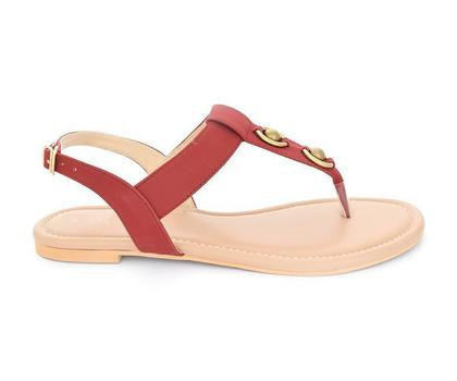 Hush Puppies - SS-SD-0072 - Maroon Open Sandal for Women