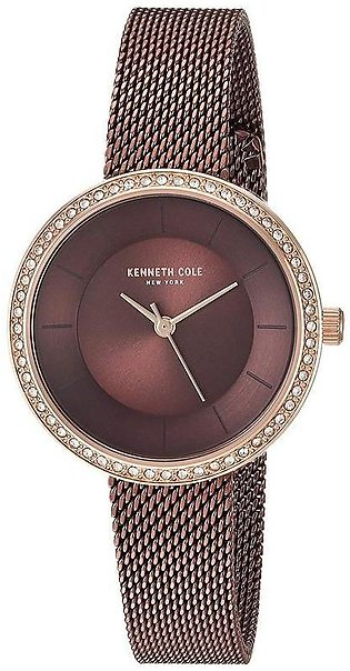 Kenneth Cole New York - KC50198003 – Brown Stainless Steel Watch for Women