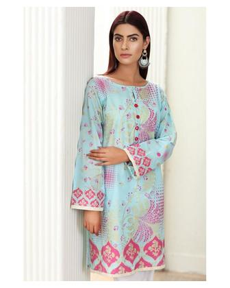 So Kamal Women Summer Collection Multi 1 PCS Stitched- Paste Printed Kurti Int:L DPL 19-361
