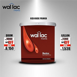 Wallac Paints Wallac Red ox - Red Oxi de Primer - Gallon Size (3.65 Liter)