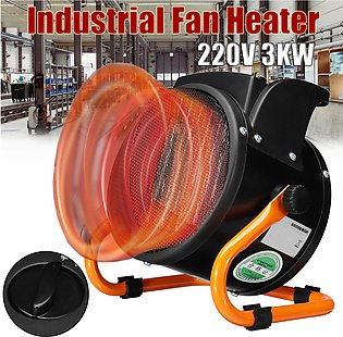 3KW Industrial Electric Fan Heater PTC Home Thermostat Warmer 3 Speed Adjustable