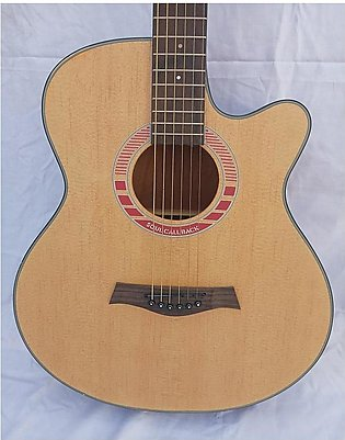 Acoustic Guitar Jumbo 40 Inches - Calao F-Cut Pink Ring