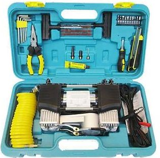 Car Tools Kit With Air Compressor Double Cylinder Air compressor