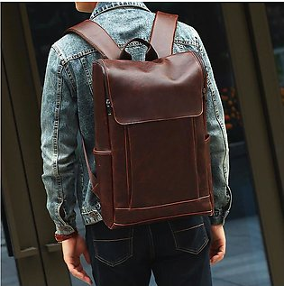 Genuine Cow Leather Backpacks Men'S Backpack Men'S Large Capacity Backpack Sc...