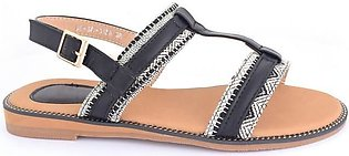 Hush Puppies-SS-SD-0136-Black Open Sandal for Women