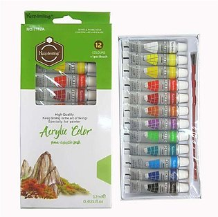 Acrylic Colours Paints Pack Of 12