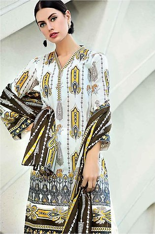 GA - GA - Gul Ahmed-Summer Collection 2019  Yellow Lawn-2 PC Unstitched-TL-18...