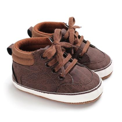 Baby Spring Shoes Boys Girls Lace Up Prewalker Soft Sole Toddler Sneaker