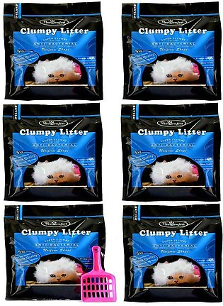 Pack of 6 - PawComfort Clumping Litters with 1 FREE Scoop