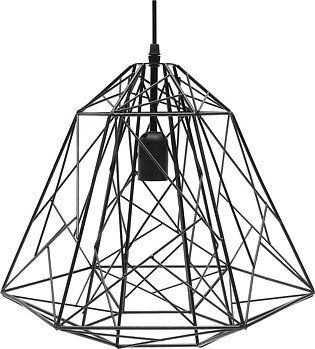 Modern Black Metal Wire Frame Ceiling Light Pendant Shade Large Size 42 x 35 cm