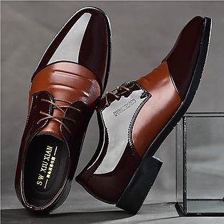Fashion Men Business Leather Shoes Casual Pointed Toe Shoes Male Suit Shoes