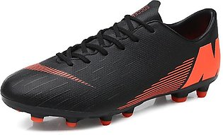 Mens Firm Ground Soccer Cleats Shockproof Breathable Football Shoes