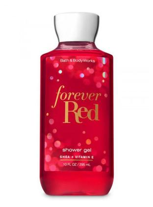 BATH AND BODY WORKS BODY WASH AND SHOWER GEL FOREVER RED